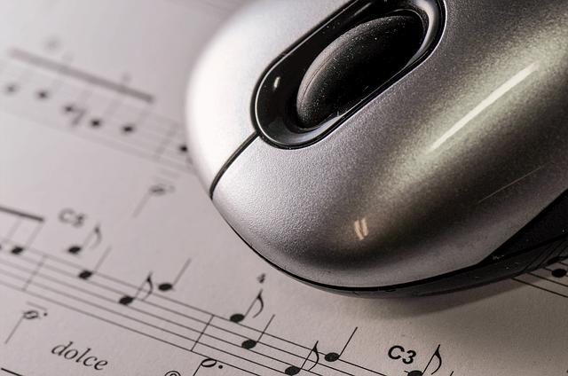 マウスと楽譜